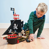 Barbarossa Pirate Ship - Wooden Toy Pirate Ship