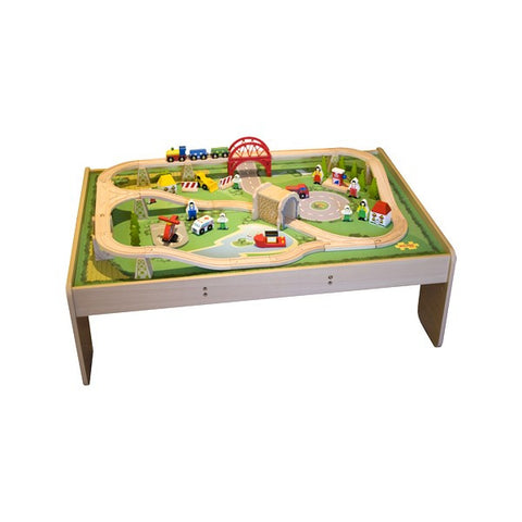 Big Jigs Wooden Rail - Services Train Set and Table