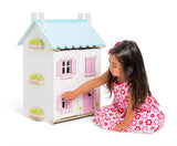 Blue Bird Cottage with Furniture - Wooden Dolls House by Le Toy Van