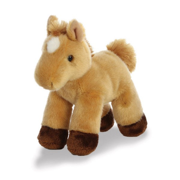 Prancer Light Brown Horse Mini Flopsie soft toy - 8""