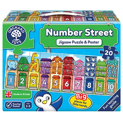 Number Street Jigsaw Puzzle - 20 pieces