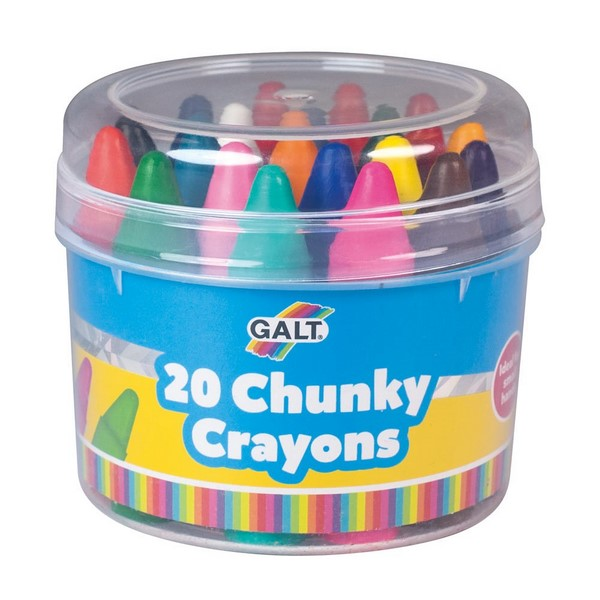 Chunky Wax Crayons - 20 crayons for toddlers