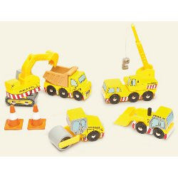 Le Toy Van Wooden Construction Vehicles