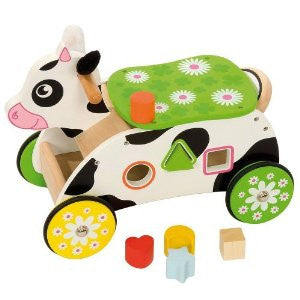 Big Jigs Wooden Cow Ride On