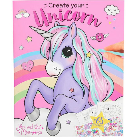 TOPModel - Create your Unicorn colouring book with stickers