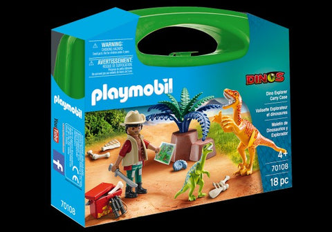 Playmobil  Large Carry Case -  Dino Explorer - 70108
