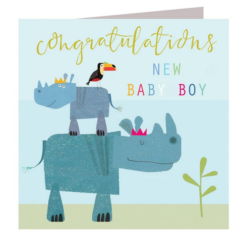 New Baby Card - Congratulations New Baby Boy