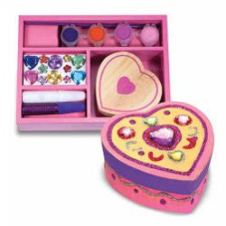 Decorate your own Wooden Heart Chest by Melissa and Doug