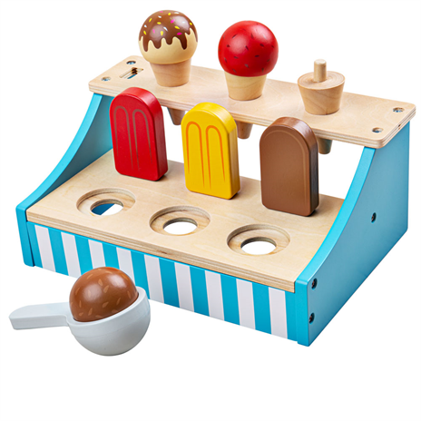 Wooden Toy Ice Cream Stand