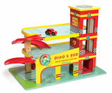 Dino's Red Wooden Toy Garage by Le Toy Van