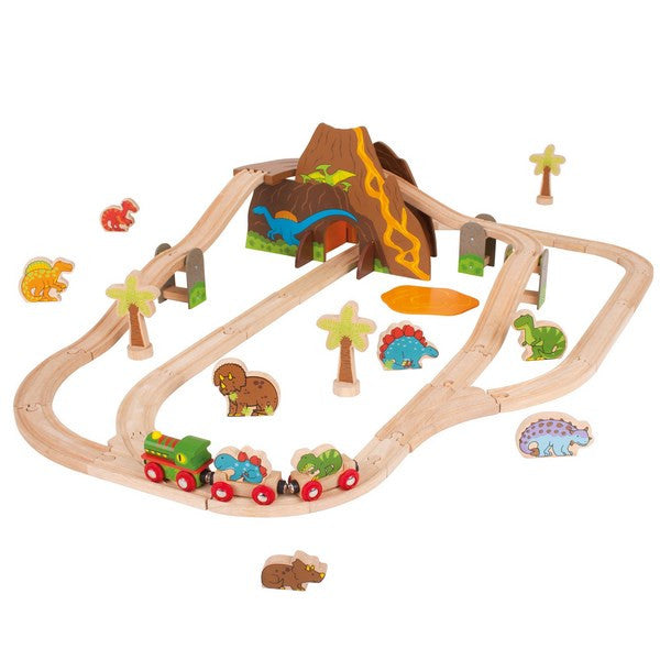 Big Jigs Wooden Rail - Dinosaur Train Set