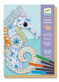 Djeco Felt Brushes - Motif Art DJ08648