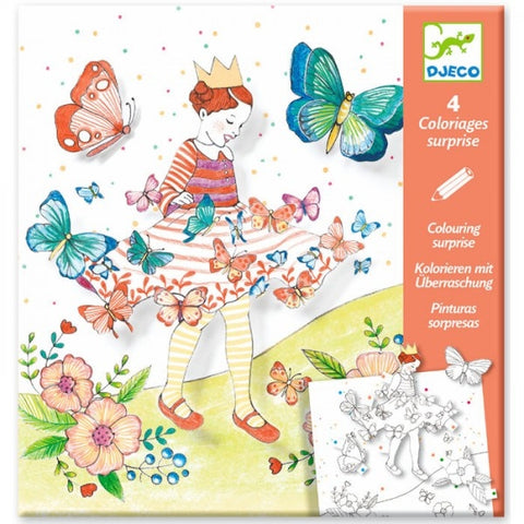 Djeco Colouring Surprise Lady Butterfly  DJ09629