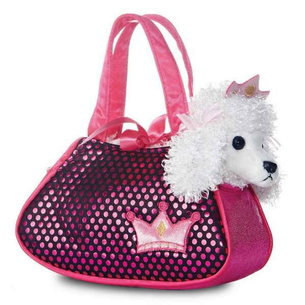 Poodle in a Shimmery Pink Bag Plush Toy