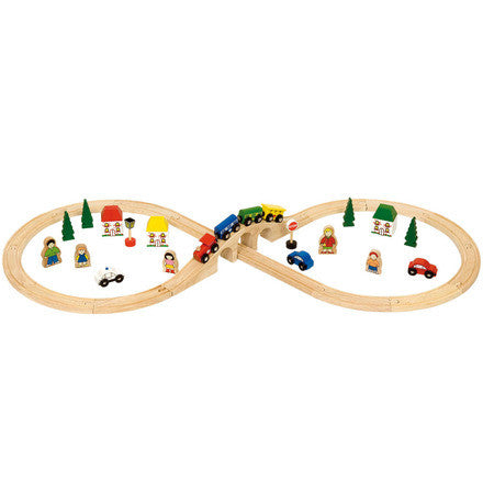 Big Jigs Wooden Rail - Figure of Eight Train Set