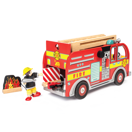 Fire Engine Set with Firefighter by Le Toy Van