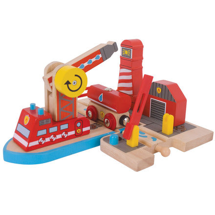 Big Jigs Wooden Train Set Accessories - Fire Sea Rescue