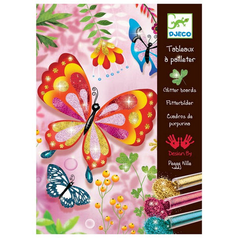 Djeco Glitter Boards - Butterflies.  DJ09503