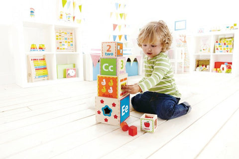 Pyramind of Play - Wooden Stacking Cubes