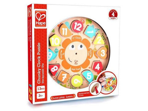 Chunky Clock Puzzle - Learning Puzzle for toddlers