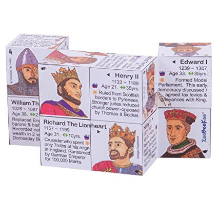 Zoobookoo Cube Book - Kings and Queens