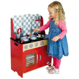 Tidlo Kitchen Station - Wooden Play Cooker