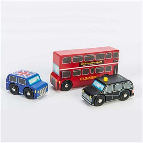 Little London Wooden Vehicles Set by Le Toy Van