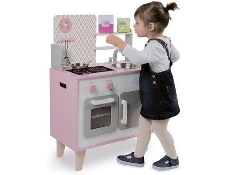 Janod Macaron Maxi Cooker - Wooden Play Cooker