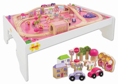 Big Jigs Wooden Rail - Magical Train Set and Table