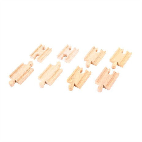 Big Jigs Wooden Train Set Accessories – 8 x Mini Track