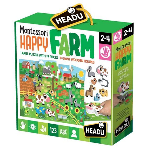 Montessori - Happy Farm Puzzle