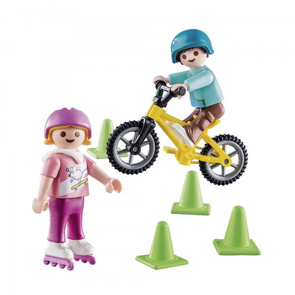 Playmobil Special - Children with Bike & Skates - 70061