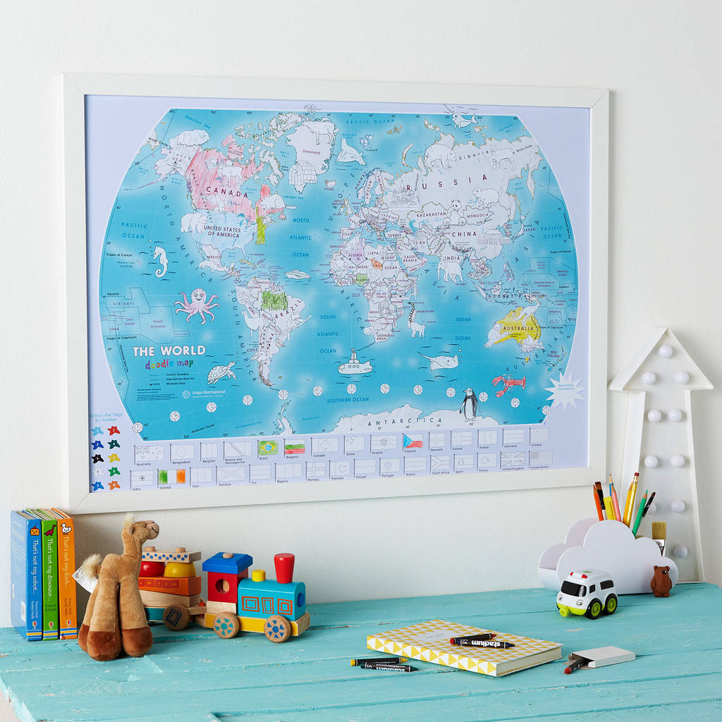 Maps International - The World Doodle Map