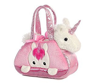 Peek-A-Book Unicorn Bag Plush Toy