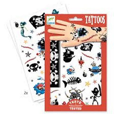 Djeco Tattoos - Pirates.  DJ09584
