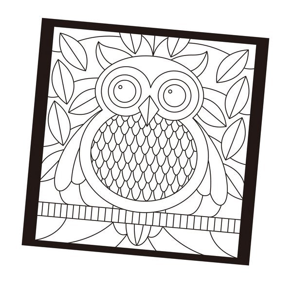 Stained Glass Book - children's colouring book