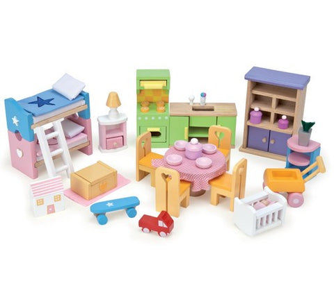 ... Wooden Dolls House Furniture   Starter Set By Le Toy Van