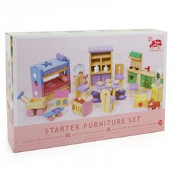 Wooden Dolls House Starter Furniture Set