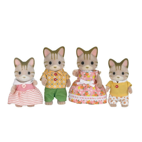 Sylvanian Families - Striped Cat Family