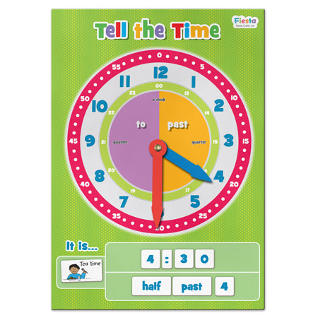 Tell The Time - Magnetic Learning Chart