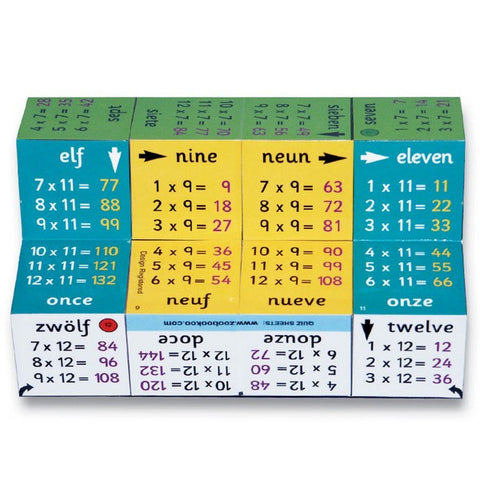 Zoobookoo Cube Book - Multiplication Tables