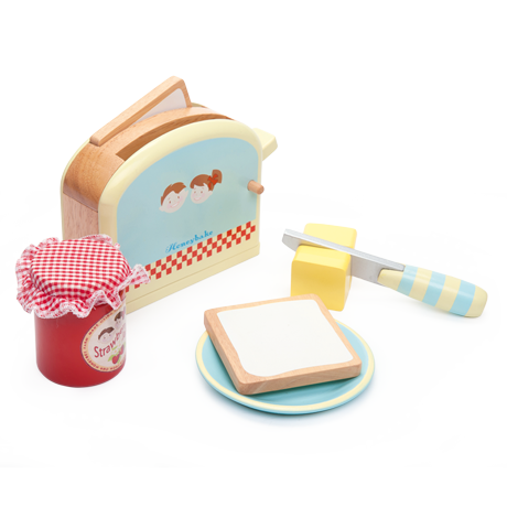 Le Toy Van Toaster Set - Wooden Food Playset