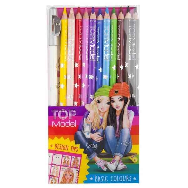 TOPModel Coloured Pencil Set (Basic Colours)
