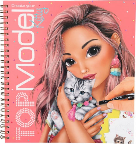 TOPModel Kitty Colouring Book