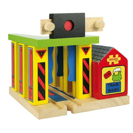 Big Jigs Wooden Train Set Accessories - Train Washer
