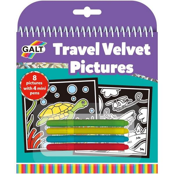 Travel Velvet Pictures - mini colouring set