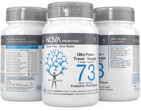 NOVA Probiotics Ultra Strength + Travel 73 Billion