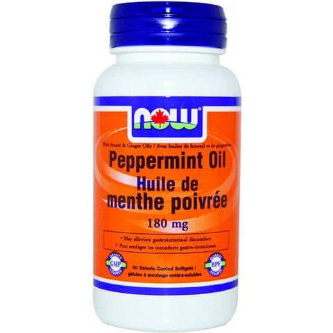 Now Peppermint Oil 180 mg 90 softgels