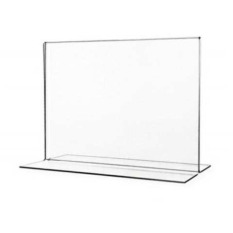 "Acrylic 11"" x 8.5"" Bottom Load Sign Holder"