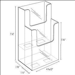 "Clear 2-Tier 4"" x 9"" Tri-Fold Brochure Holder"